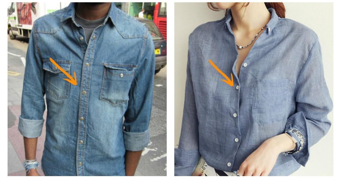 d8e7142764c7 Γιατί τα κουμπιά στα ανδρικά πουκάμισα βρίσκονται στην αντίθετη πλευρά από  τα γυναικεία